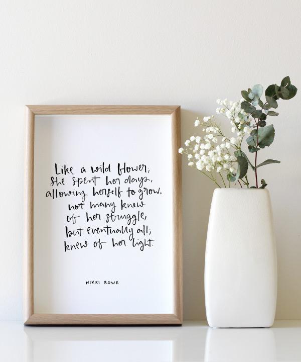 wildflower-original-framed