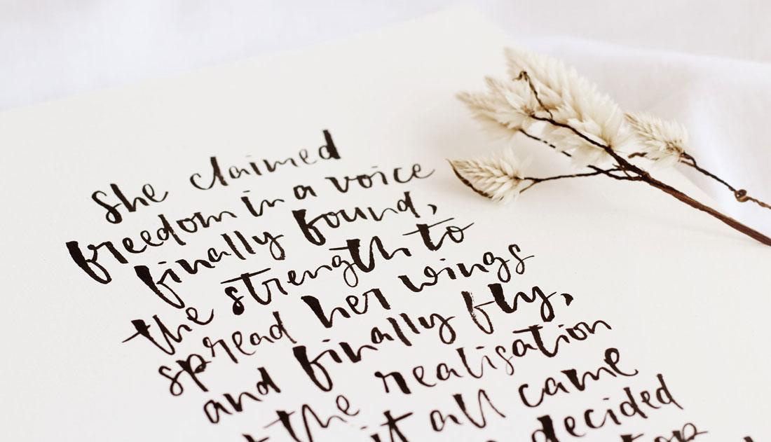 brush lettered artwork